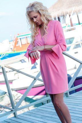 Купить Платье Vesnaletto 2039 розовый, Вечерние платья, 2039, розовый, 62% вискоза, 35% пэ, 3% спандекс., Лето