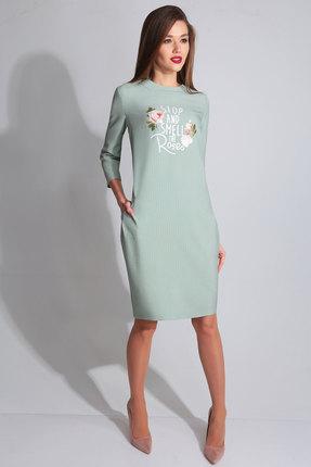 Купить Платье Axxa 55046 мята, Повседневные платья, 55046, мята, п/э 71%, вискоза 23%, спандекс 6%, Мультисезон