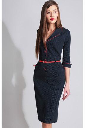 Купить Платье Axxa 55041 синий, Повседневные платья, 55041, синий, полиэстер 71%, вискоза 23%, спандекс 6%, Зима