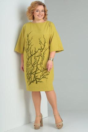 Купить Платье Viola Style 0828 горчица, Повседневные платья, 0828, горчица, Вискоза 71%, ПЭ 23%, спандекс 6%, Мультисезон