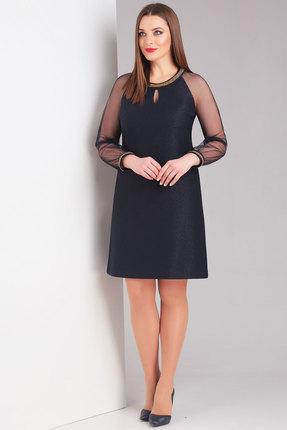 Купить Платье Милора-Стиль 681 синий, Повседневные платья, 681, синий, Вискоза 67%, полиэстер 27%, спандекс 2%, эластан 4%, Мультисезон