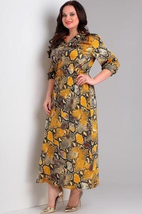 Купить Платье Jurimex 1953-2 желтый с коричневым, Повседневные платья, 1953-2, желтый с коричневым, полиэстер – 80%, вискоза – 20%, Мультисезон
