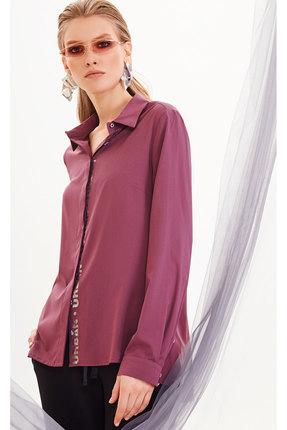 Фото 2 - Блузку DiLiaFashion 0144-1 фиолетовый фиолетового цвета