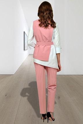 Фото 2 - Комплект брючный Миа Мода 956-2 розовый розового цвета