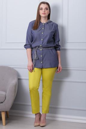 Комплект брючный Michel Chic 592 желтый с синим