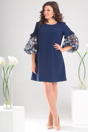 Платье Мода-Юрс 2409 темно син...