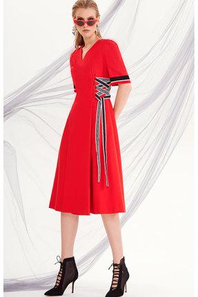 Платье DiLiaFashion 0201 красн...