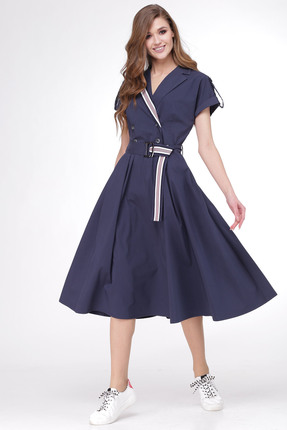 Платье Verita Moda 1167 синий ...