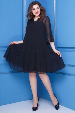 Купить Платье Anastasia 251 черные тона, Повседневные платья, 251, черные тона, Шифон: ПЭ -95%, Вискоза -5% ; Трикотаж :ПЭ- 95%, Спандекс -5%., Мультисезон