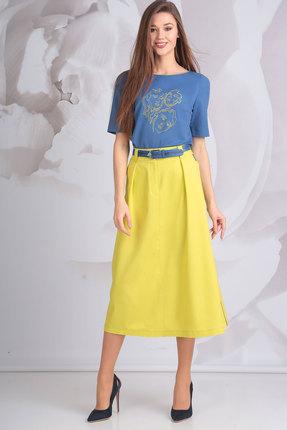 Комплект юбочный Golden Valley 6370 синий с желтым