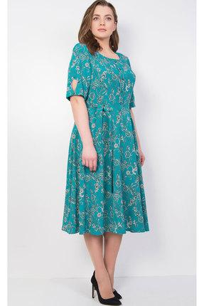 Купить Платье TricoTex Style 1827 бирюза, Повседневные платья, 1827, бирюза, 70% п/э, 25% вискоза, 5% спандекс, Лето