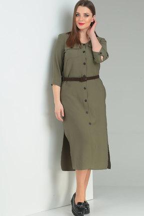 Платье Ришелье 698 хаки Повсед...