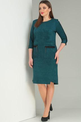 Платье Ришелье 668 бирюзовый П...