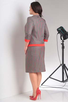 Фото 3 - Комплект юбочный Milana 876 красные тона цвет красные тона