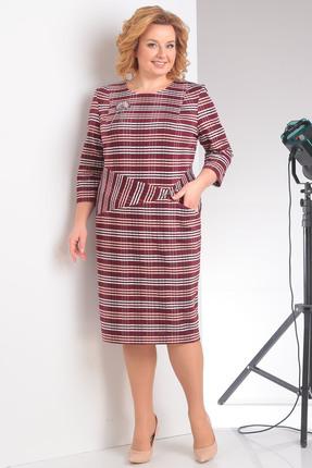 Купить Платье Milana 108 красный, Повседневные платья, 108, красный, Полотно трикотажное. Состав: ПЭ-58%, вискоза-37%, спандекс-5%., Мультисезон