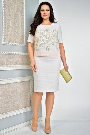 Комплект юбочный Solomeya Lux 567 розовый с бежем