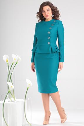 Комплект юбочный Мода-Юрс 2314 темная бирюза
