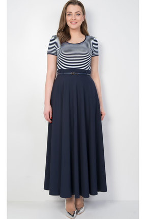 Купить Платье TricoTex Style 8417 синий, Повседневные платья, 8417, синий, 70% п/э, 25% вискоза, 5% спандекс, Лето