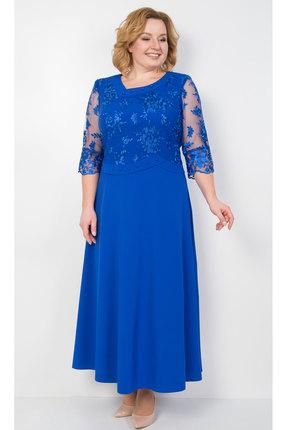 Купить Платье TricoTex Style 0219 синий, Вечерние платья, 0219, синий, 70% п/э, 25% вискоза, 5% спандекс, Мультисезон