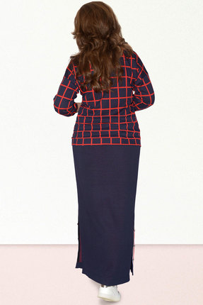 Фото 2 - Комплект юбочный Needle Ревертекс 391/1 синий с красным цвет синий с красным