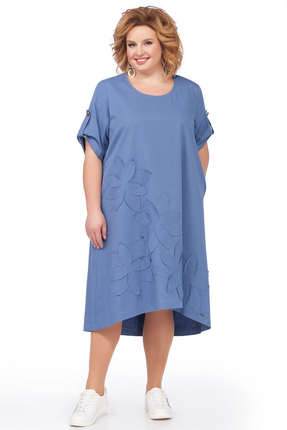 Платье Pretty 674 светло синий