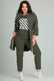 Комплект брючный Andrea Style 0094 хаки