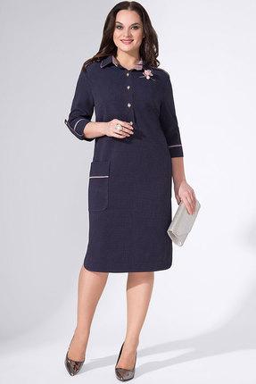 Купить Платье Avanti Erika 771 синий, Повседневные платья, 771, синий, вискоза 72%, ПЭ 25%, спандекс 3%, Мультисезон