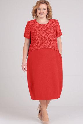 Купить Платье Elga 01-594 красный, Повседневные платья, 01-594, красный, 68% Вискоза 30% ПЭ 2% Спандекс, Мультисезон