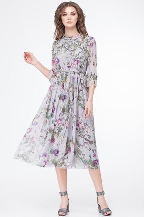Купить Платье Магия Моды 1555 серые тона, Повседневные платья, 1555, серые тона, ПЭ 100%, Мультисезон