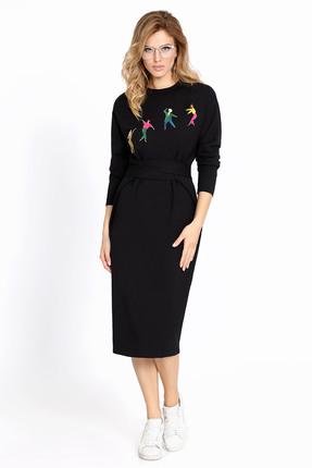 Купить Платье PIRS 624 черный, Повседневные платья, 624, черный, Состав: 49% хлопок 48% нейлон 3% спандекс, Мультисезон