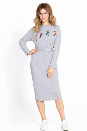 Платье PIRS 624 серый