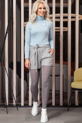 Купить со скидкой Комплект с шортами DilanaVIP 1272 голубой с серым