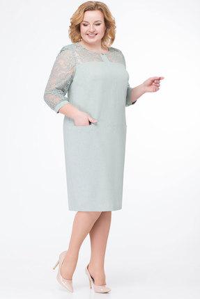 Платье БелЭкспози 775 серо-зеленые тона