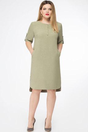 Платье БелЭкспози 1123-1 олива