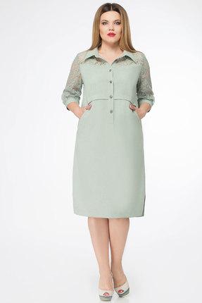 Платье БелЭкспози 1133 серо-зеленые тона