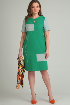 Платье Viola Style 0831 зеленый