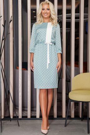 Платье DilanaVIP 1260 серо-бирюзовый