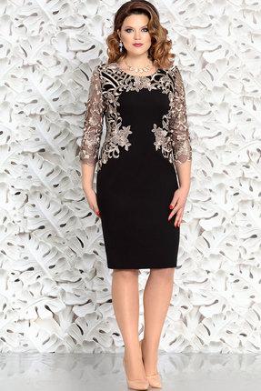 Купить Платье Mira Fashion 4361-3 чёрный+золото, Вечерние платья, 4361-3, чёрный+золото, полиэстер 73%, вискоза 25%, спандекс 2%, Мультисезон
