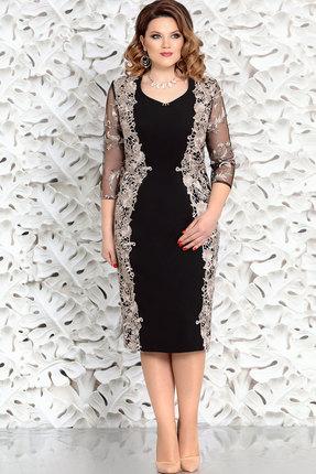 Платье Mira Fashion 4362-2 чёрный+золото