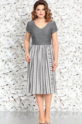 Купить Платье Mira Fashion 4404-2 серый, Повседневные платья, 4404-2, серый, Вискоза - 55% Лен - 23% Хлопок - 22%, Лето