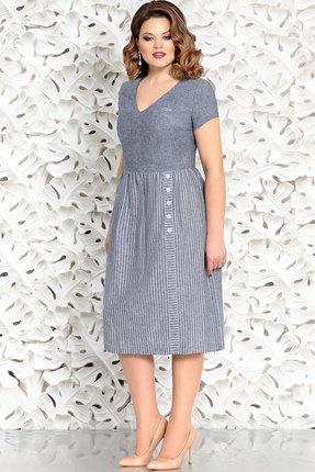 Купить Платье Mira Fashion 4404-3 серо-голубой, Повседневные платья, 4404-3, серо-голубой, Вискоза - 55% Лен - 23% Хлопок - 22%, Лето
