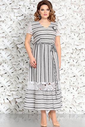 Купить Платье Mira Fashion 4405-3 серый, Повседневные платья, 4405-3, серый, Вискоза - 55% Лен - 23% Хлопок - 22%, Лето