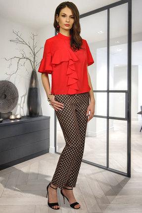 Комплект брючный Миа Мода 1006 красный