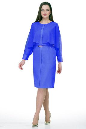 Купить Платье Мишель стиль 757 василек, Вечерние платья, 757, василек, полиэстер 82%, вискоза 14%, спандекс 4%, Мультисезон