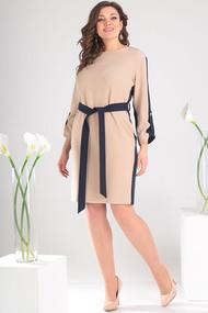 Платье Мода-Юрс 2460 бежевые тона