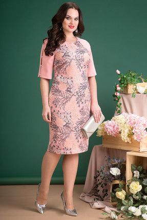 Однотонное розовое вечернее коктейльное платье