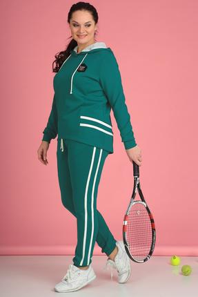 Купить Спортивный костюм Anastasia Mak 578 бирюзовый, Спортивные костюмы, 578, бирюзовый, Состав: 71% ПЭ, 23% Вискоза, 6% Спандекс., Мультисезон