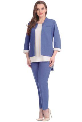 женский брючный костюм линия-л, синий