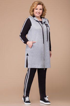 Спортивный костюм Svetlana Style 1208 серый с черным