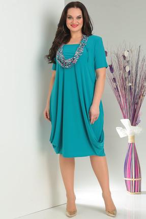 Платье Milana 622 бирюзовые тона